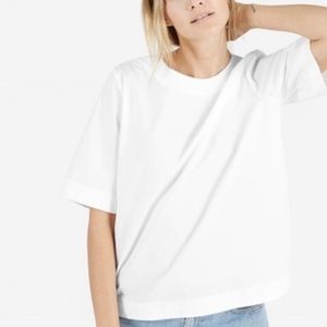 Everlane the Structure Poplin Back Zipper Blouse